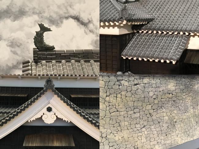 熊本城ミニチュア細部
