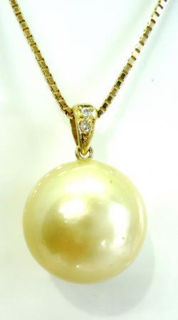 K18南洋真珠・ダイヤリングからペンダント加工 ●