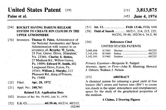 ケムトレイル特許