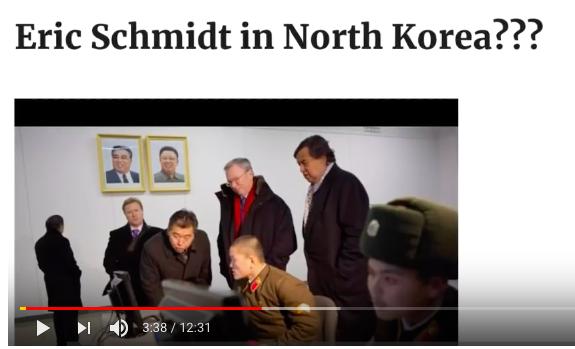 北朝鮮にいるエリック・シュミット