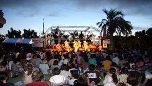 江の島バリSUNSET2017・様々な催し物が江の島の夜を彩る