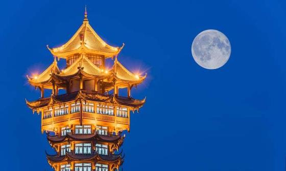 月 人口月 成都 中国 爆発