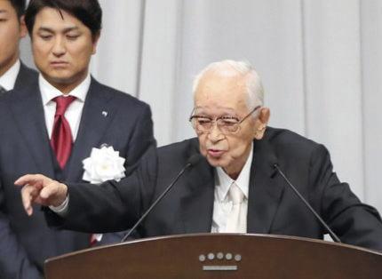 渡辺恒雄(92)、約5カ月ぶりに公の場に姿を現す … 「死亡説が流れたから出てきたんだよ」とジョーク