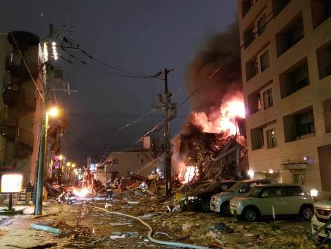 札幌市豊平区の居酒屋で大爆発、国道453号線に面した一画が吹っ飛ぶ(画像)