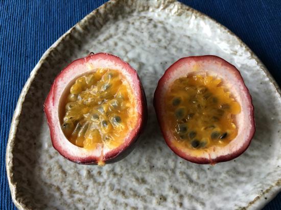 パッションフルーツ追熟③