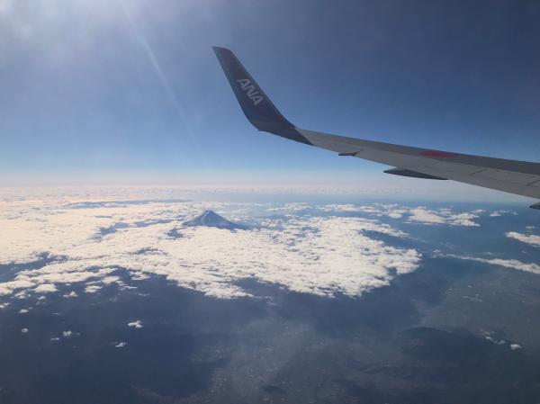 出張201712_飛行機から富士山