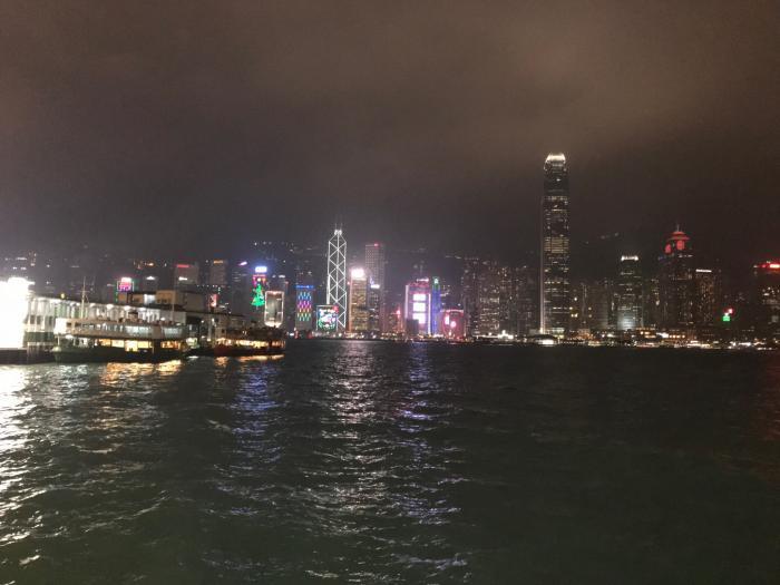 中国出張201712_香港の夜景