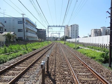 小田急江ノ島線の中央林間1号踏切@大和市f