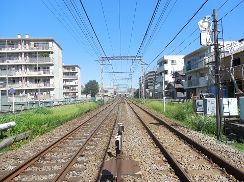 小田急江ノ島線の中央林間1号踏切@大和市e