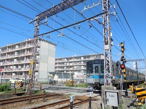 小田急江ノ島線の中央林間1号踏切@大和市g