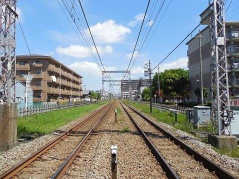 小田急江ノ島線の桜ヶ丘8号踏切@大和市d
