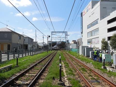 小田急江ノ島線の桜ヶ丘11号踏切@大和市d
