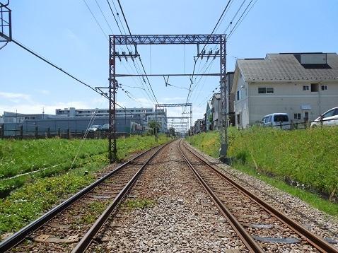 小田急江ノ島線の大和3号踏切@大和市e