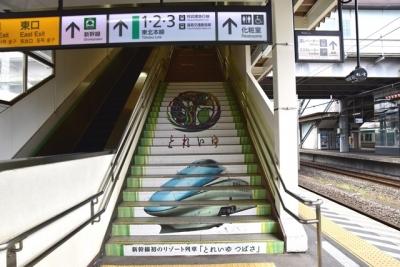 JR福島駅在来線5番線ホーム階段