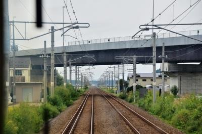 神宮寺駅付近三線軌条