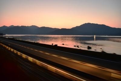 夜明け前の瀬戸内海