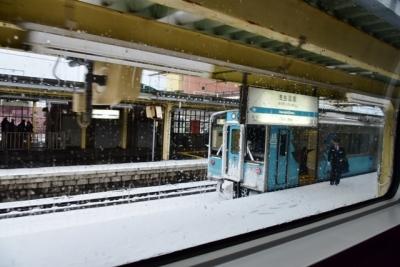 雪の浅虫温泉駅