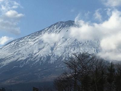 須走から見る富士山
