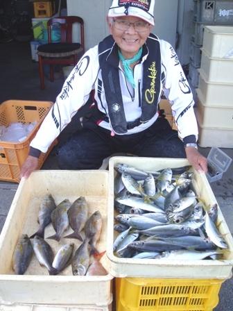 マアジ61尾、イサギ8尾の大漁ブログ用