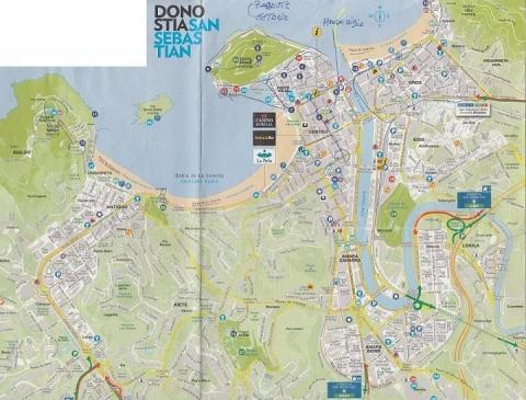 mapa de Donostia 1