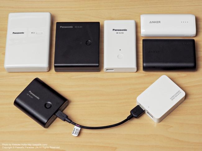 旅の必需品モバイルバッテリー比較レビュー