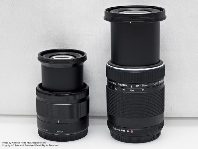 LUMIX G VARIO 35-100mm  F4.0-5.6 比較 M.Z.D. ED 40-150mm 4.0-5.6 R
