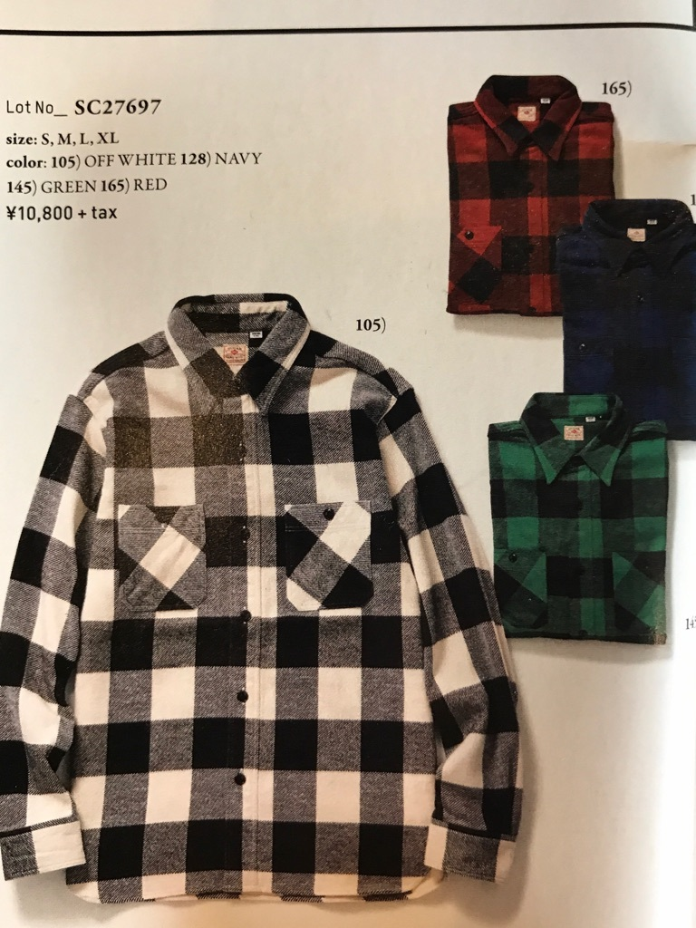 "SUGAR CANE ""TWILL CHECK WORK SHIRT""③【横田店】"