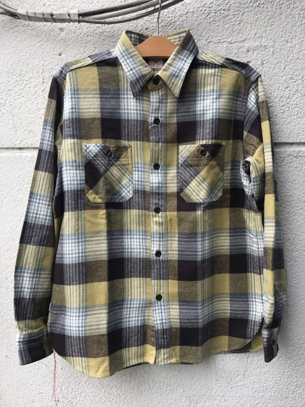 "SUGAR CANE ""TWILL CHECK WORK SHIRT""①"