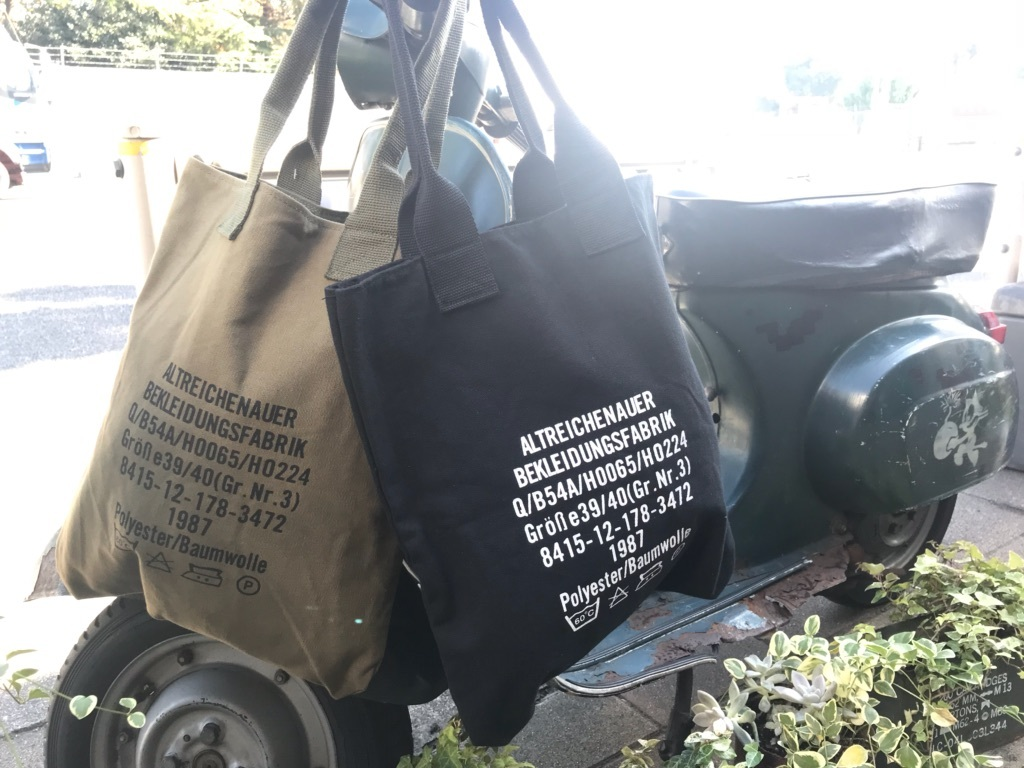 German army washing logo print TOTE BAG【横田店】