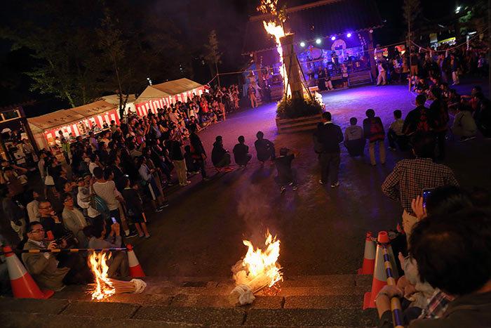 往馬大社 火祭り 宵宮3