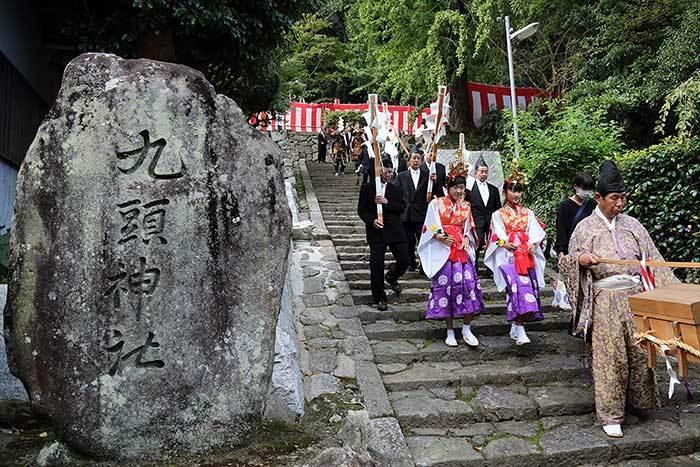 狭川九頭神社 神事芸能2