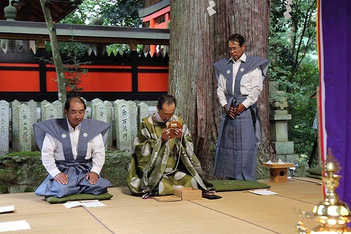 興ヶ原天満神社 翁舞3