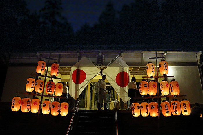 東阿田八幡神社 宵宮祭2