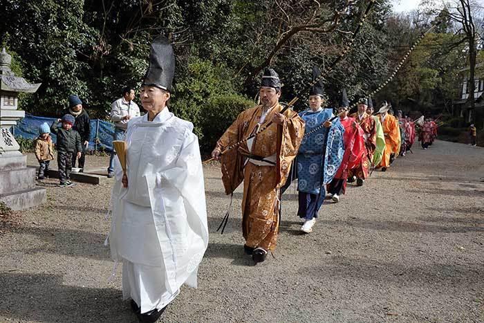 大和神社 御弓始祭1