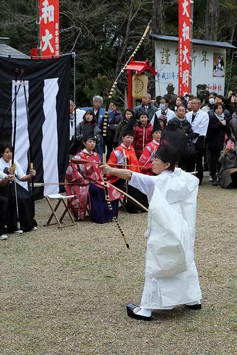 大和神社 御弓始祭3