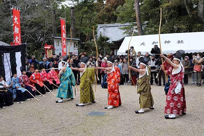 大和神社 御弓始祭5