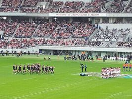 【写真】味の素スタジアムでの日本対ニュージーランドのラグビー戦