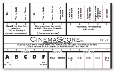1113 CinemaScore Ballot