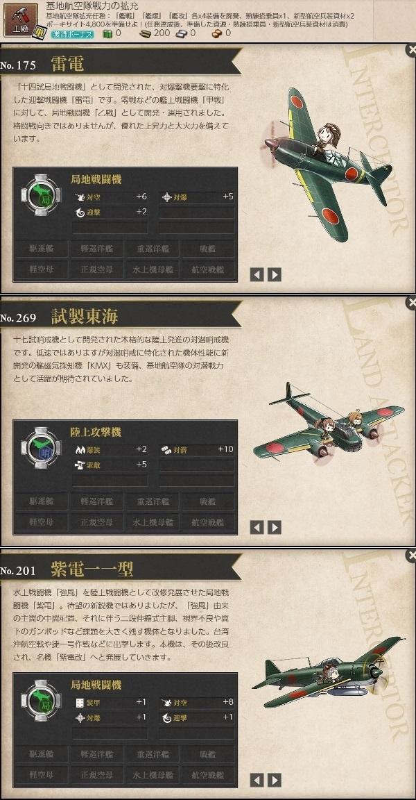 基地航空隊戦力の拡充 どれが良いのか