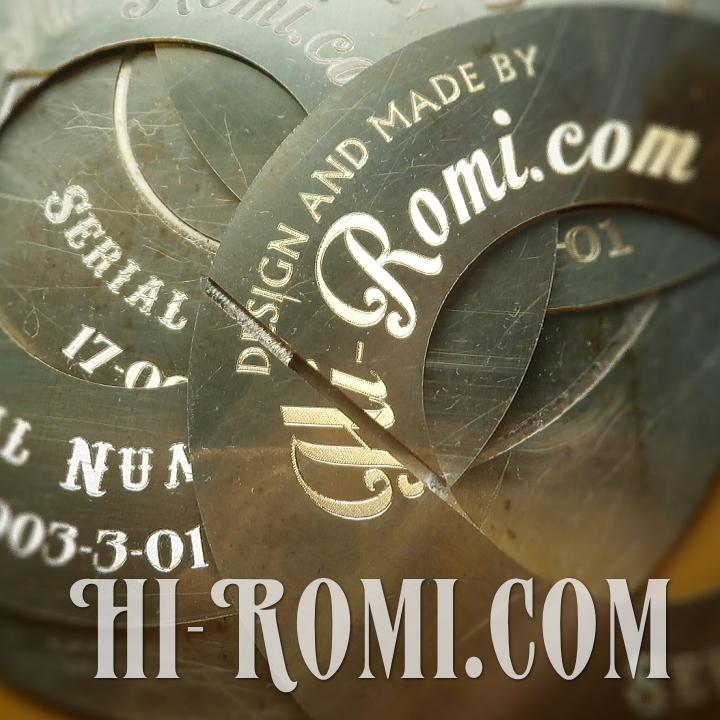 Hi-Romi.com/ハイロミ、オリジナル照明用のタグの製作途中。