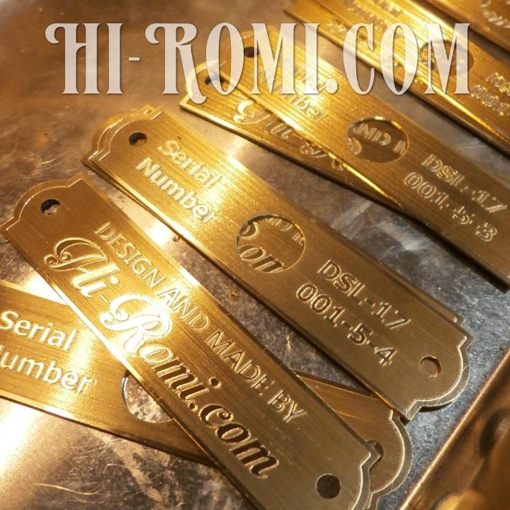 Hi-Romi.com(ハイロミ)オリジナルテーブルライトのタグが出来た!20171116