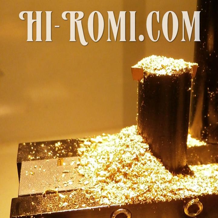 次のHi-Romi.com(ハイロミ)オリジナル照明に使う真鍮のパーツ製作中。