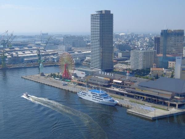 神戸ポートタワー展望台から見た風景1〔フリー写真〕