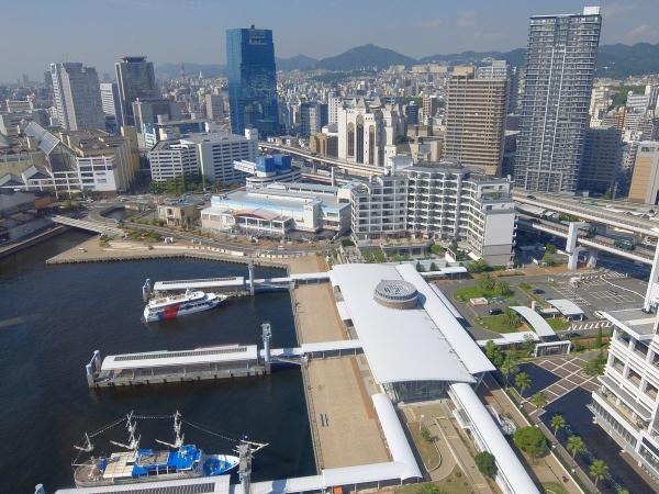 神戸ポートタワー展望台から見た風景2〔フリー写真〕