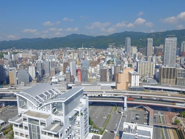 神戸ポートタワー展望台から見た風景3〔フリー写真〕