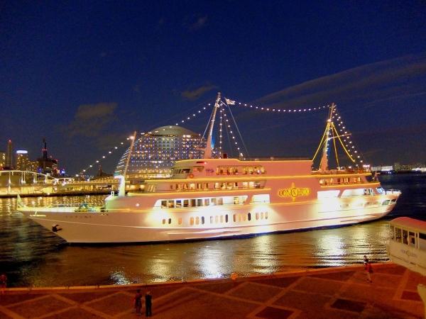神戸港の夜景3〔フリー写真〕