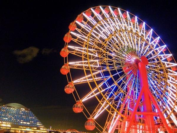 神戸港の夜景5〔フリー写真〕