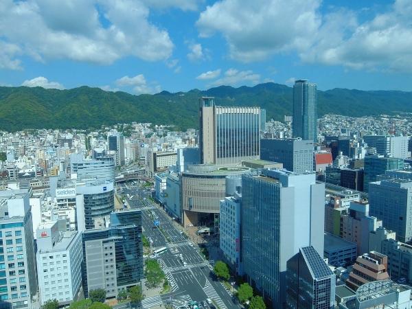 神戸市役所展望ロビーから見た風景2〔フリー写真〕