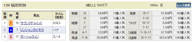 【払戻金】1014新潟12R(長生式馬券スタイル)