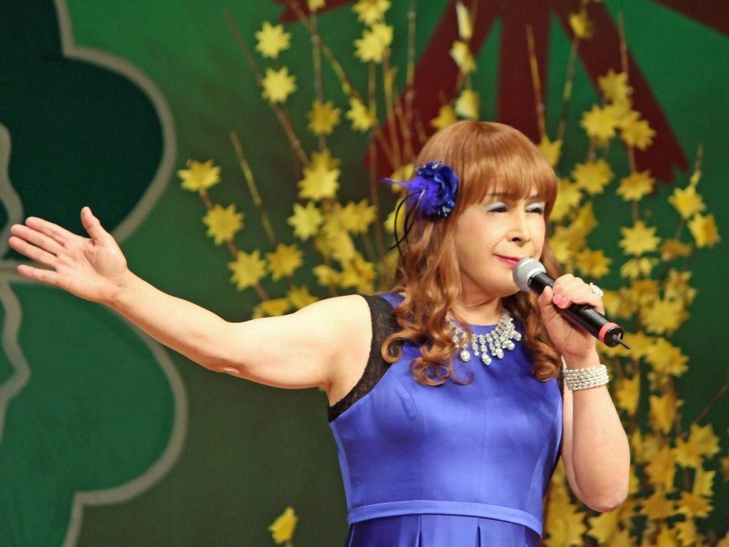 青紫ロングドレス舞台(10)